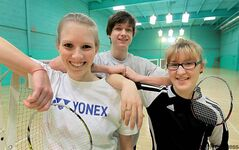 Leah Inglis, Andrew Harrison and Alexandra Dansen (from left) are among the players who will represent Manitoba this weekend in Toronto at the Senior Ellite badminton tournament.