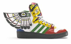 Jeremy Scott for Adidas Totem, 2013. Based on traditional totem pole designs, the sneakers have be criticized for cultural misappropriation.
