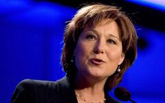 British Columbia Premier Christy Clark speaks in Vancouver on January 22, 2013. THE CANADIAN PRESS/Darryl Dyck