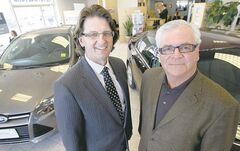 Steve Chipman of Birchwood (left) with Bob Kozminski of Keystone. Chipman says the purchase brings synergies.