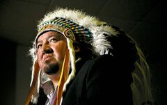 Grand Chief Derek Nepinak of the Assembly of Manitoba Chiefs pauses as he speaks during a press conference following a meeting with the Assembly of Manitoba Chiefs in Ottawa on Thursday, January 10, 2013.