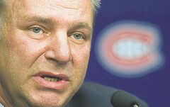 Michel Therrien speaks during a news conference in Brossard, Que., Tuesday, June 5, 2012, announcing him as new head coach of the Montreal Canadiens. THE CANADIAN PRESS/Graham Hughes