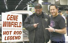 Willy with hotrod builder Gene Winfield.