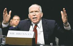 CIA director nominee John Brennan testifies on Capitol Hill in Washington, Thursday.
