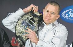 Canadian Georges St-Pierre is the UFC's welterweight champ, but isn't listed for the Winnipeg card.