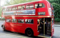 Sixty years' old and one of only 10 remaining open-back double-decker buses with a conductor.