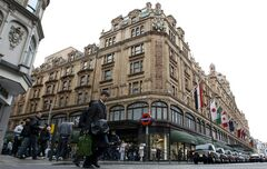 A general view of Harrods department store in London, May, 8 2010. Harrods on Brompton Road in London contains over two dozen restaurants, cafes and bars. The department store's ground-floor Meat Hall includes several upscale eateries. THE CANADIAN PRESS/AP - Alastair Grant