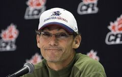 This Nov. 22, 2008 photo shows Montreal Alouettes head football coach Marc Trestman during a press conference in Montreal. The Chicago Bears have hired Montreal Alouettes coach Marc Trestman to replace the fired Lovie Smith.THE CANADIAN PRESS/Nathan Denette