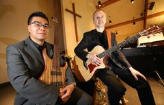Dr. Jonathan Wong (left) and Chuck Kroeker have put together a fundraising CD for Hospitality House Refugee Ministry.