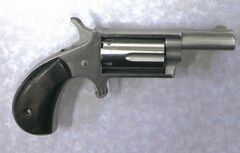 The revolver seized at Emerson.