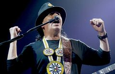 Carlos Santana performs at MTS Centre.