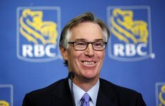 Gordon Nixon, president and CEO of the Royal Bank of Canada, speaks to reporters following the company's annual meeting in Calgary, Thursday, Feb. 28, 2013.THE CANADIAN PRESS/Jeff McIntosh