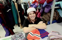 Ginny Sudlow of Koats for Kids. Don't be fooled by the the program's name - mitts, toques, ski-pants and other warm-weather clothing are welcome, too.
