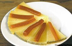 Manchego cheese with quince preserve