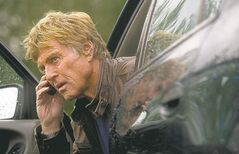 Robert Redford performs a scene in the new dramatic thriller,
