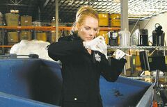 Marg Helgenberger in a scene from the CBS series CSI. (Sonja Flemming / CBS)