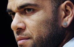 Barcelona's Dani Alves is pictured in Barcelona, Spain, Nov. 5, 2013. THE CANADIAN PRESS/AP, Manu Fernandez