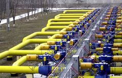 Pipes carrying Russian gas are pictured at a transit point in Boyarka, just outside Kiev. THE CANADIAN PRESS/AP, Sergei Chuzavkov