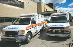East Kildonan resident Al Yakimchuk is concerned with ambulances and stretcher service vehicles being left to idle outside Concordia Hospital.