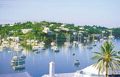 With Bermuda being so close to the United States, many of the yachts in the harbour belong to Americans.