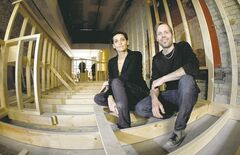 Anneen DuPlessis and Tomas Sohlberg, owners of Boon Burger Cafe, in their second location on Bannatyne Avenue. They're aiming for a June opening.