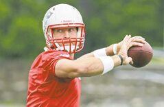 New England Patriots quarterback Tim Tebow