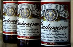 FILE - This Jan. 27, 2009 file photo shows bottles of Budweiser beer are at the Stag Brewery in London. Anheuser-Busch unveiled the ingredients of Budweiser and Bud Light for the first time Thursday, June 12, 2014, a day after a popular food blogger started an online petition to get major brewers to list what's in their beverages. (AP Photo/Kirsty Wigglesworth, File)