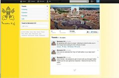 A screen grab of Pope Benedict XVI Twitter page. Pope Benedict XVI hit the 1 million Twitter follower mark on Wednesday, Dec. 12, 2012 he sent his first tweet from his new account, blessing his online fans and urging them to listen to Christ. In perhaps the most drawn out Twitter launch ever, the 85-year-old Benedict pushed the button on a tablet brought to him at the end of his general audience after the equivalent of a papal drum roll by an announcer who intoned: