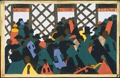 This handout image provided by The Phillips Collection shows Jacob Lawrence's