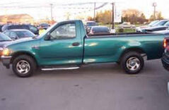 A missing person from the Benito area was last seen driving a green 1998 Ford F150 pickup truck, similar to the one in this photo.