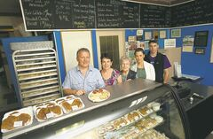 Sevala's Ukranian Deli & Catering owner Del Demchuk with wife Bernie, mother Sylvia Beck, daughter Amy Teres, and nephew Matt Pohl. 'We have customers that will drive right across town to get their fix.'