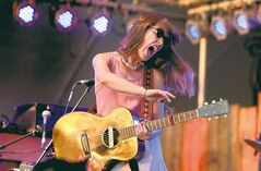 RUTH BONNEVILLE / WINNIPEG FREE PRESS Feist performs on the folk festival's main stage at Birds Hill Park Wednesday night.
