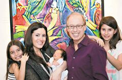 Sam Katz with his family in 2012 (from left):  Daughter Kiera, wife Leah, son Aidan and daughter Ava.
