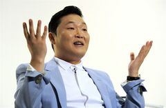 "In this Wednesday, June 4, 2014 photo, South Korean musical performer Psy speaks during an interview in Los Angeles. The ubiquitous 2012 hit is one Psy knows he probably will never top, and that makes creating new music quite a challenge. ""People always comparing my new thing with 'Gangnam Style,' which is unbeatable,"" said Psy in a recent interview at YouTube Space LA. (Photo by Chris Pizzello/Invision/AP)"