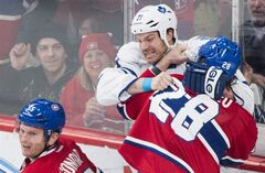 Habs Defenceman Gonchar Day-to-day After Hit From Toronto's Clarkson