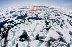 The Canadian Coast Guard icebreaker Louis S. St-Laurent makes its way through the ice in Baffin Bay, Thursday, July 10, 2008. THE CANADIAN PRESS/Jonathan Hayward