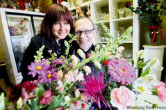 Tammara and Bruce Bondesen opened their florist shop last February, just before Valentine's Day.