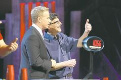 Carroll competes on Canada�s Smartest Person, with host Gerry Dee.