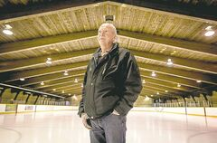 'It's hard to say how long they're going to hold up. It could be 10 years, 20 years or it could go tomorrow' — John Atkinson (above, at Sargent Park Arena), who is responsible for keeping some of the city's old rinks and ice surfaces in good working order