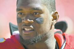 Kansas City Chiefs linebacker Jovan Belcher this morning on December 1, 2012, shot and killed his girlfriend before going to Arrowhead Stadium and fatally shooting himself as team personnel tried to stop him, police said. In this September 9, 2012, file photo, Belcher is shown during an NFL game against the Atlanta Falcons. (David Eulitt/Kansas City Star/MCT)