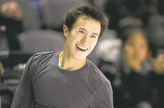 Patrick Chan was perfect during a practice session in London, Ont., Monday. The world figure skating championships begin Wednesday.