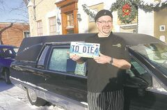 Doug Krahn�s dessert-delivery hearse will be on the road soon.
