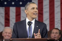 U.S. President Barack Obama gives his state of the union address to Congress on Capitol Hill Tuesday.
