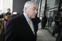 Former media mogul Conrad Black arrives at federal court in Chicago, Thursday, Jan. 13, 2011. A new Conrad Black memoir described as being