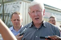 Liberal Leader Bob Rae attended the rally as part of his nationwide tour.
