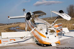 The pilot walked away after plane slams into ditch near Selkirk.