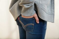 Levi Strauss' Knit Jeans, made of stretch cotton knit that look like jeans but feel like sweatpants, are pictured. THE CANADIAN PRESS/AP, HO - Levi Strauss