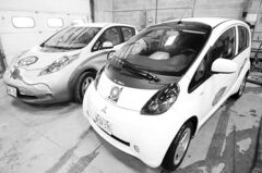 The Mitsubishi i-MiEV (right)
