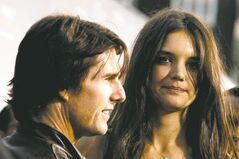 Katie Holmes, right, and Tom Cruise. (AP Photo/Matt Sayles)