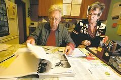Jim Garwood and his wife, Cheryl, sift through evidence that suggests his mother's death was not an accident.